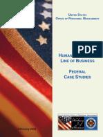 Federal Case Studies