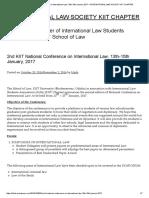 2nd KIIT National Conference on International Law, 13th-15th January, 2017 – INTERNATIONAL LAW SOCIETY KIIT CHAPTER
