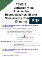 Tema 8 La Ilustración y Los Movimientos Revolucionarios. El Arte Neoclásico y Romántico 2ª Parte