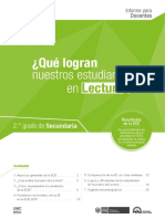 Informe Para El Docente Lectura ECE 2015