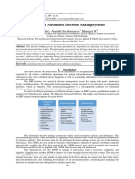 A Study of Automated Decision Making Systems
