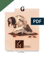 Mythical Creature Alphabet 'G'