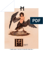 Mythical Creature Alphabet 'H'
