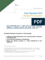 White Paper FDSOI Designed for Low Power