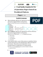 Live Leak - Coal India Limited (CE) 2017 Model Question Paper Based on Predicted Pattern