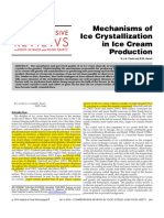 Mechanisms of Ice Crystallization Icecream