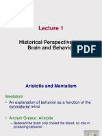 Lecture 1 - Historical Perspectives on Brain and Behavior