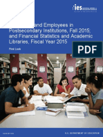 NCES: Enrollment and Employees in Postsecondary Institutions, Fall 2015; and Financial Statistics and Academic Libraries, Fiscal Year 2015