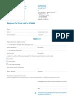 Language Center Request Course Certificate En