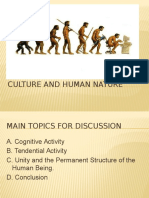 8 Culture and Human Nature