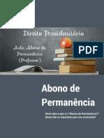 Abono de Permanência (Dr. Jaderson Ferreira