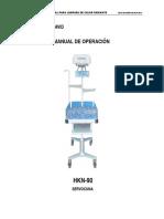 Manual usuario lampara de fototerapia HKN90
