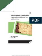 Políticas Culturales y Gestión Cultural