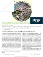 Metodología Para La Identificación, Clasificación y Evaluación de Los Recursos Territoriales Turísticos Del Centro de Ciudad de Fort-De-France
