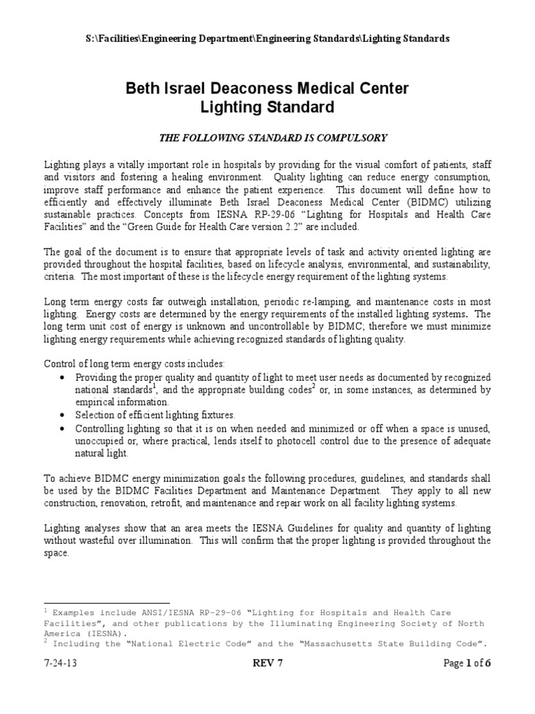 sc 1 st  Scribd & BIDMC Lighting Standards | Lighting | Fluorescent Lamp azcodes.com