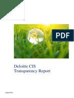 Deloitte Transparency Report 2014