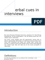 Non Verbal Cues in Interviews