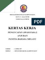 Kertas Kerja PENGUCAPAN AWAM FASA 2 ( Bahasa Melayu)