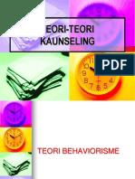 Kuliah 9 Teori Behavioris