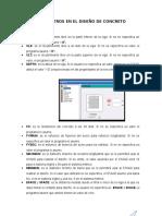 Parámetros en El Diseño de Concreto