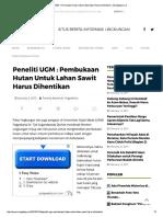 Peneliti UGM _ Pembukaan Hutan Untuk La...Awit Harus Dihentikan – Mongabay.co.Id