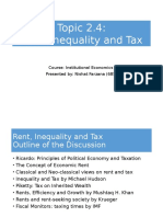 Rent Inequality and Tax