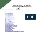 Top Job Searching Sites in UAE