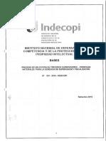 BASES DEL PROCESO DE SELECCIÓN DE TERCEROS SUPERVISORES – N° 001-2016-INDECOPI