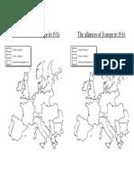alliances of europe 1914 map