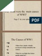 causes of ww1