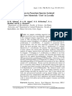 Toxigenic Variation in Fusarium Species Isolated