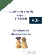 Relatório de área de projecto