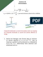 Seminar 10 - Electrostatica