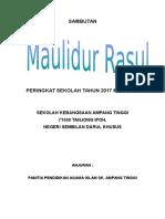 Kertas Kerja Maulidur Rasul 2017