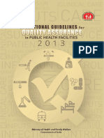 Operational Guideline for Quality Assurance in Public Health Facilities 2013