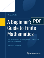 A Beginner's Guide to Finite Mathematics_For Business, Management, And the Social Sciences