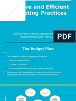 effective and efficient budgeting practices