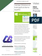 Cambiar Windows 10 Build 9926 Al Idioma Español