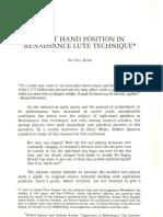 Renascenca - Dowland - Right Hand Position