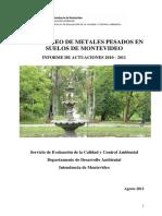 Monitoreo Metales Suelos 2010-2011