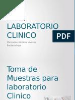 Toma de Muestras Para Laboratorio Clinico