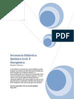Secuencia Didactica. Modelos Atomicos
