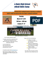Softball Camp 2017