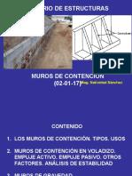 Seminario de estructuras Semana 1 -PARCIAL 3 (02-01-17)MUROS DE CONTENCIÓN.pptx
