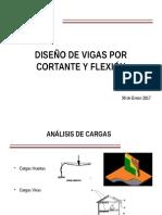 DISEÑO DE VIGAS POR CORTANTE Y FLEXION