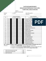 Daftar Hadir Ppu 15-16