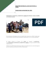 Como Influyen Los Desastres Naturales Lluvias Huaycos en La Economía Local Nacional