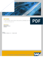 SAP HANA Interactive Education SHINE En