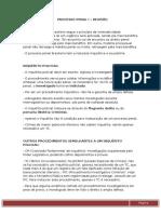 Estudos Para p1 de Processo Penal I