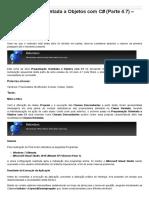 Sinergia - Programação Orientada a Objetos Com C# (Parte 4.7) – Herança
